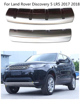 Land Rover Discovery Bumper   Stainless Steel Car Front + Rear Bumpers Protector Guard Skid Plate 2pcs Fits For Land Rover Discovery 5 LR5 2017 2018 BY EMS