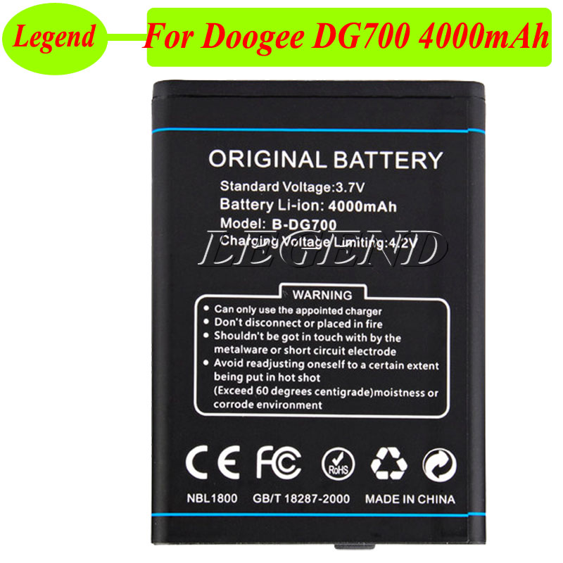 4000mah B-dg700 For Doogee Titans2 Doogee Dg700 Battery Batterie Bateria Accu Cellphones & Telecommunications Mobile Phone Batteries