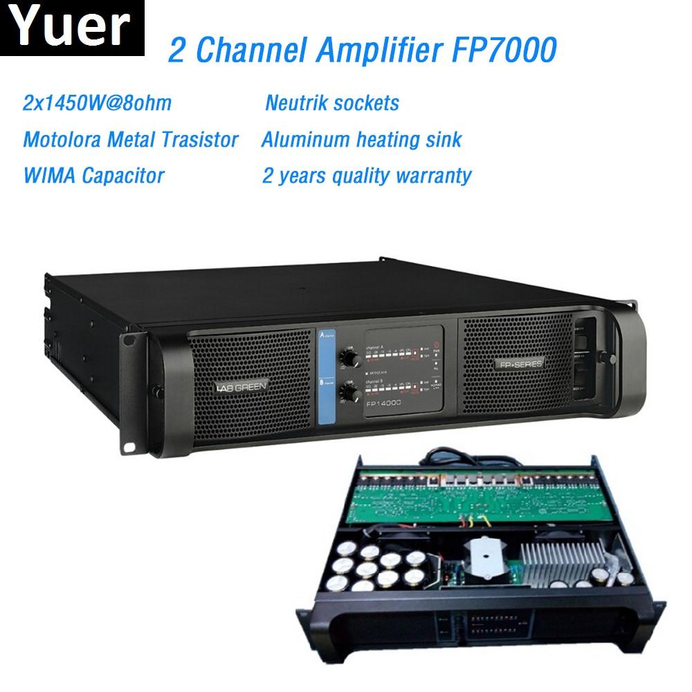 2 Channel Amplifier FP7000 line array Amplifier Motolora Metal Trasistor 2x1450W Professional Sound Power Amplifier Line