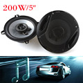"Universal 5"" 200W Max 4ohm Car Coaxial Auto Audio Music Stereo Speakers 2 Way for Vehicle Door SubWoofer"