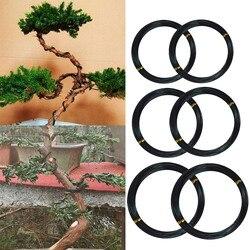 6 rolo 5m fios de treinamento de árvore de alumínio jardim bonsai iniciantes formadores artistas plantas árvores fio de treinamento 1mm/1.5mm/2mm preto