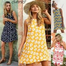 Women Dresses Sleeveless Floral Casual Sundress Summer Tank Top Dress 4 Style