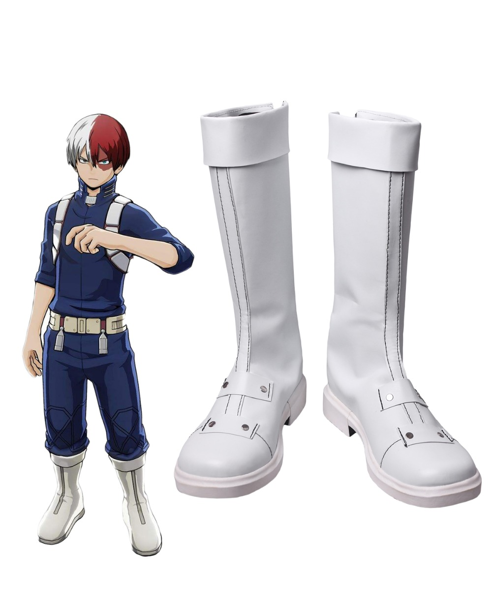 Boku no Hero Academia Shoto Todoroki Cosplay Boots Shoes My Hero Academia Cosplay Custom Made