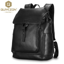 Top Quality Fashion 15″ Laptop Notebook Mochila Men's Genuine Leather Backpack Computer Backpacks Anti-theft Bagpack Bag for Men