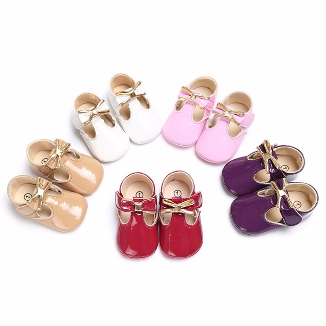 Cute PU Leather Infant Shoes for Baby Girls