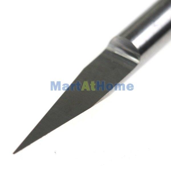 Argedo 10 x Карбид фасонно-фрезерный станок типа CNC с печатной платой фрезерование гравировка V Биты хвостовик диаметр 3,175 мм 10 градусов 0,1 мм Диаметр# SM368@ CF