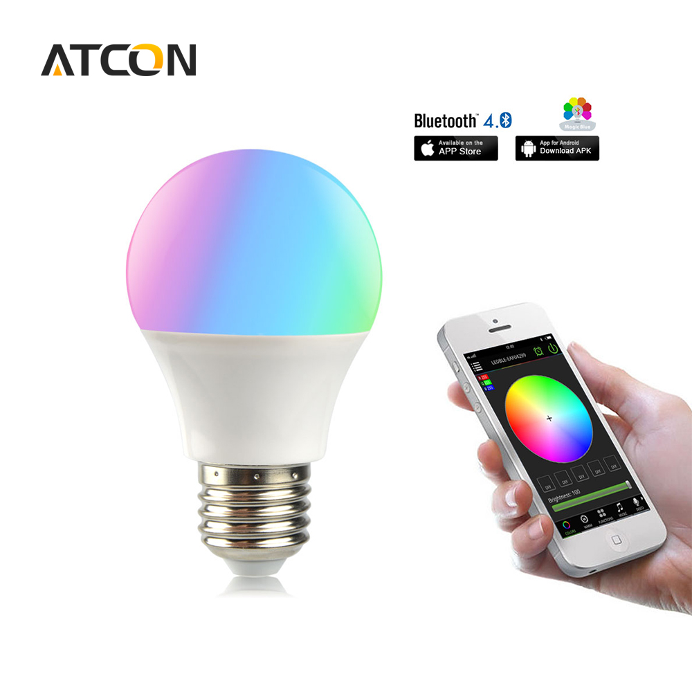 Led smart night lamp - 1pcs Dimmable Smart Atmosphere Rgbw Led Night Light 85v 265v E27 4 5w Bluetooth App