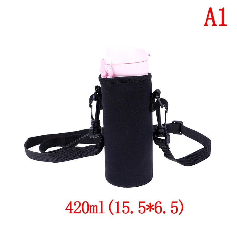 420-1500 мл оболочка для бутылки сумка ж/неопреновый ремень сумка для воды держатель плечевой ремень черная бутылка сумка - Цвет: A1