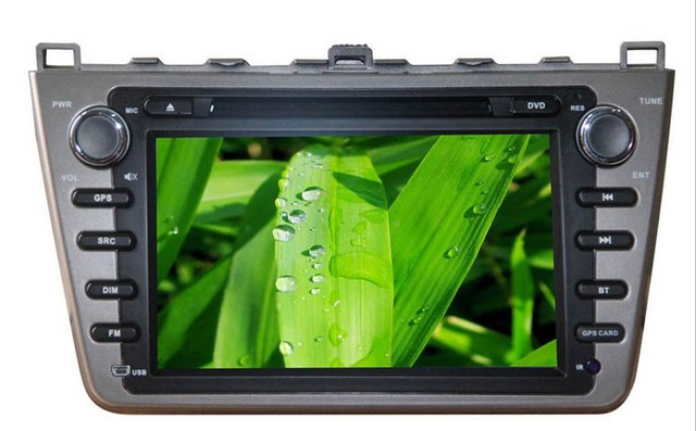 16: 9 HD 7.0 inch TFT LCD fully motorized 2 din Car DVD Player With GPS navigation Bluetooth special for Mazda 6  Free shipping