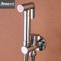 top high quality Copper bidet nozzle toilet spray gun set hand held small shower bathroom bidet faucet set
