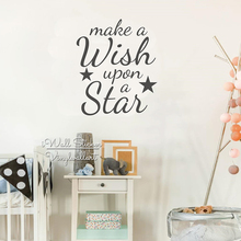 Star Quote Wall Sticker Baby Nursery Quotes Decal Inspirational Kids Room Cut Vinyl Children Stickers Q235