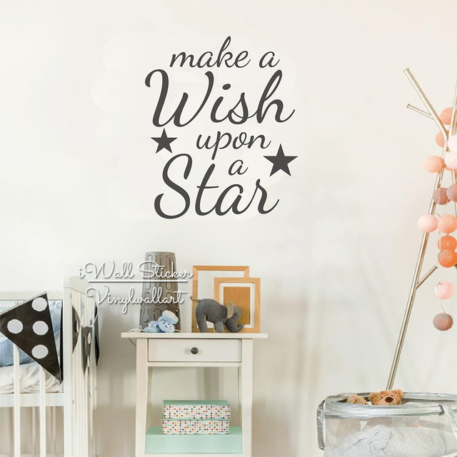 Star Quote Wall Sticker Baby Nursery Star Quotes Wall Decal