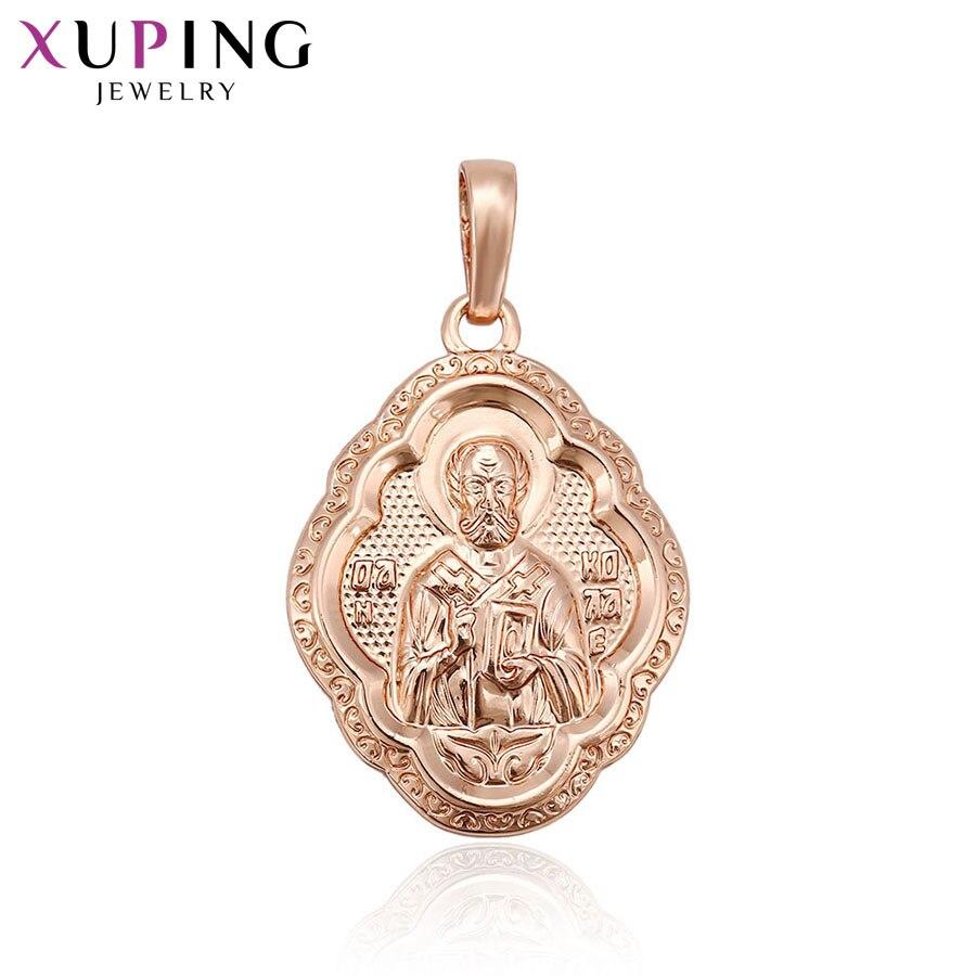 11.11 ofertas xuping moda religión serie colgante oro rosa color para neutral acción regalo joyería S68, 1-33060