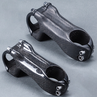 road cycling mountain bike Parts matte/ 3k carbon bicycle stem fork Clamp 28.6 or 31.8 mm bar clamp 25.4 or 31.8mm