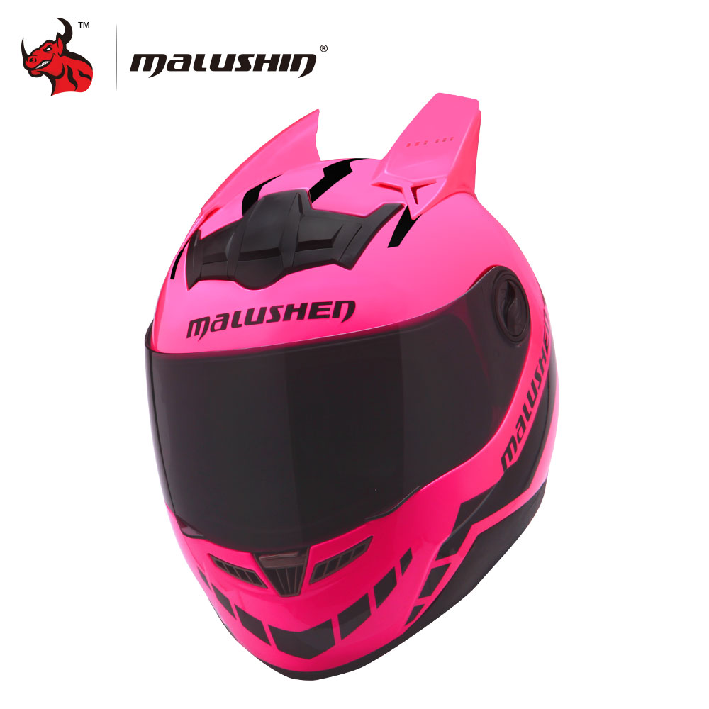 MALUSHUN Motorcycle Helmet Women Flip Up Motocross Helmet Moto Helmet Capacetes De Motociclista Novelty Casque Moto ABS Material masei mens womens war machine gray ironman iron man helmet motorcycle helmet half helmet open face helmet abs casque motocross
