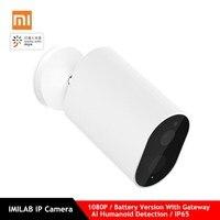 Xiaomi Mijia умная ip-камера с батарейным шлюзом 1080P AI гуманоидное Обнаружение приложение управление IP65 наружная беспроводная умная камера