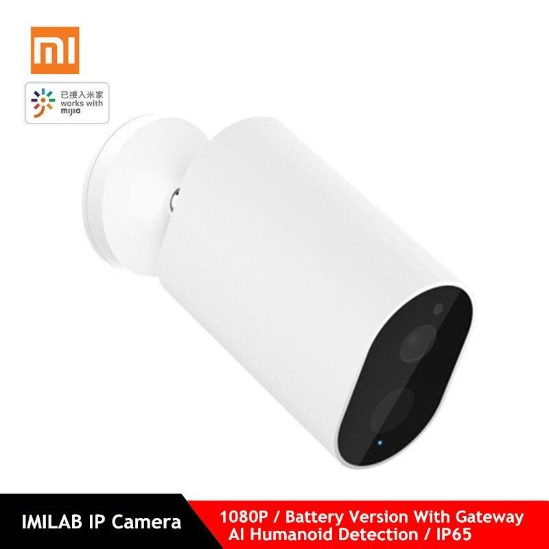 Xiaomi Mijia Inteligente Câmera IP Com Detecção de Porta de Entrada Da Bateria 1080P AI Humanóide IP65 APP Controle Sem Fio Ao Ar Livre Câmera Inteligente