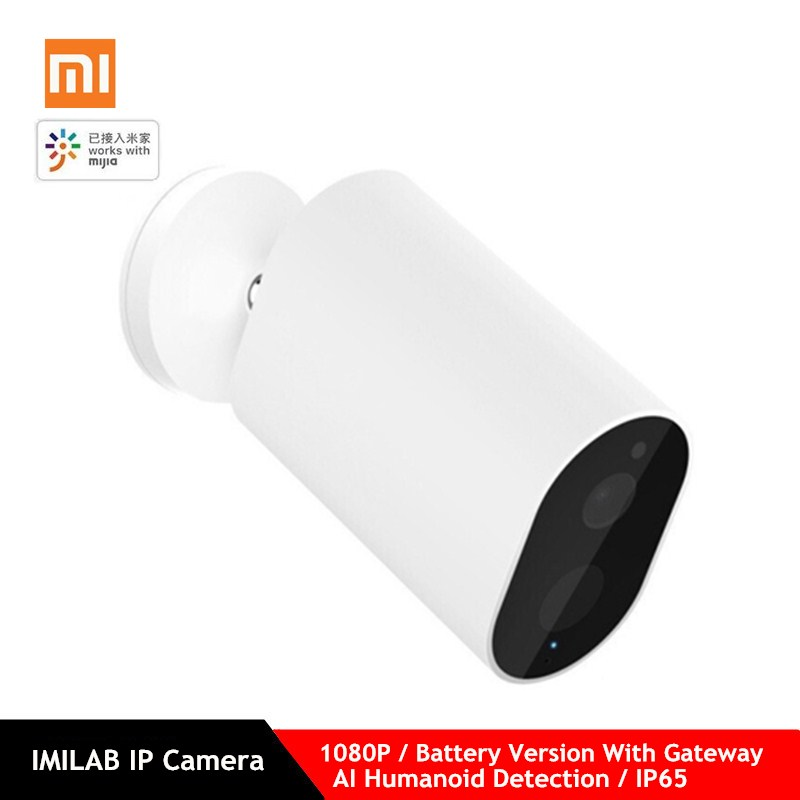 Xiaomi Mijia Smart IP Camera With Battery Gateway 1080P AI Humanoid Detection APP Control IP65 Outdoor Wireless Smart Camera