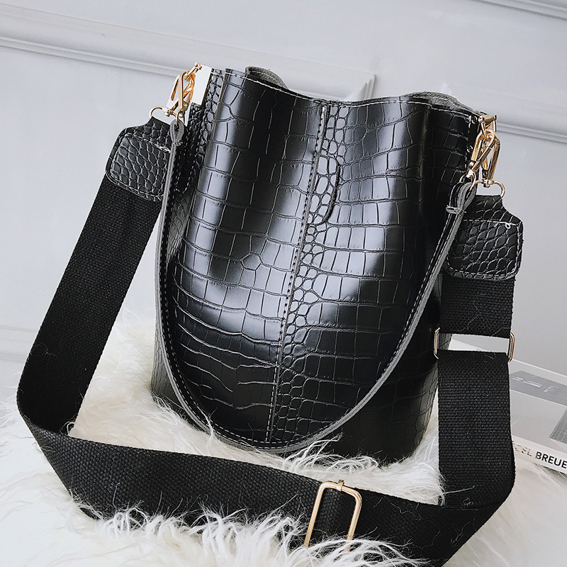 Women's PU Leather Handbags Casual Totes Crossbody High Capacity Bucket Bag Luxury Designer Shoulder Bag For Female Bolsas