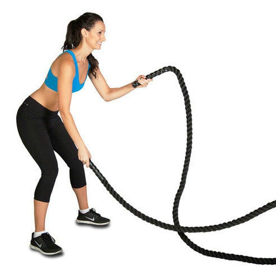 Nylon covered (diameter 5.0cm x L 9, 12, 15meter) 2x30,40,50 Strength endurance grip training rope