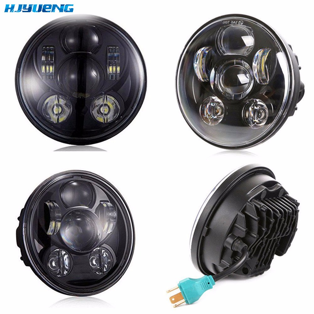 45w For Triumph Rocket 3 Motorcycle Accessories 5 3/4  Harley DRL Headlight 5.75 Inch III LED Headlamp Running Lights