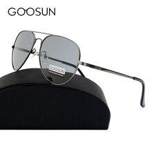 GOOSUN HD Polarized Luxury Sunglasses Men Brand Design Fishing Driving vintage Sun glasses Male Metal frame Classic Eyewear