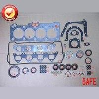 5A 5AFE Engine complete Full gasket set kit for Toyota Corolla/Soluna vios/Sprinter 1498cc 1987 02