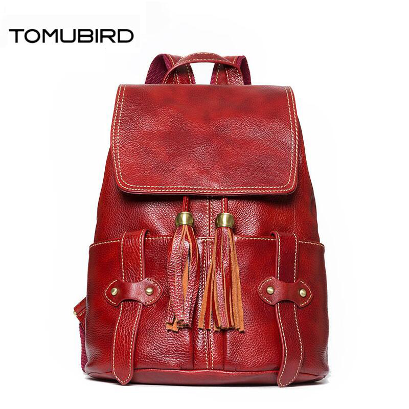 TOMUBIRD fashion superior leather designer bags famous brand women bags 2017 new leisure women genuine leather bagkpack