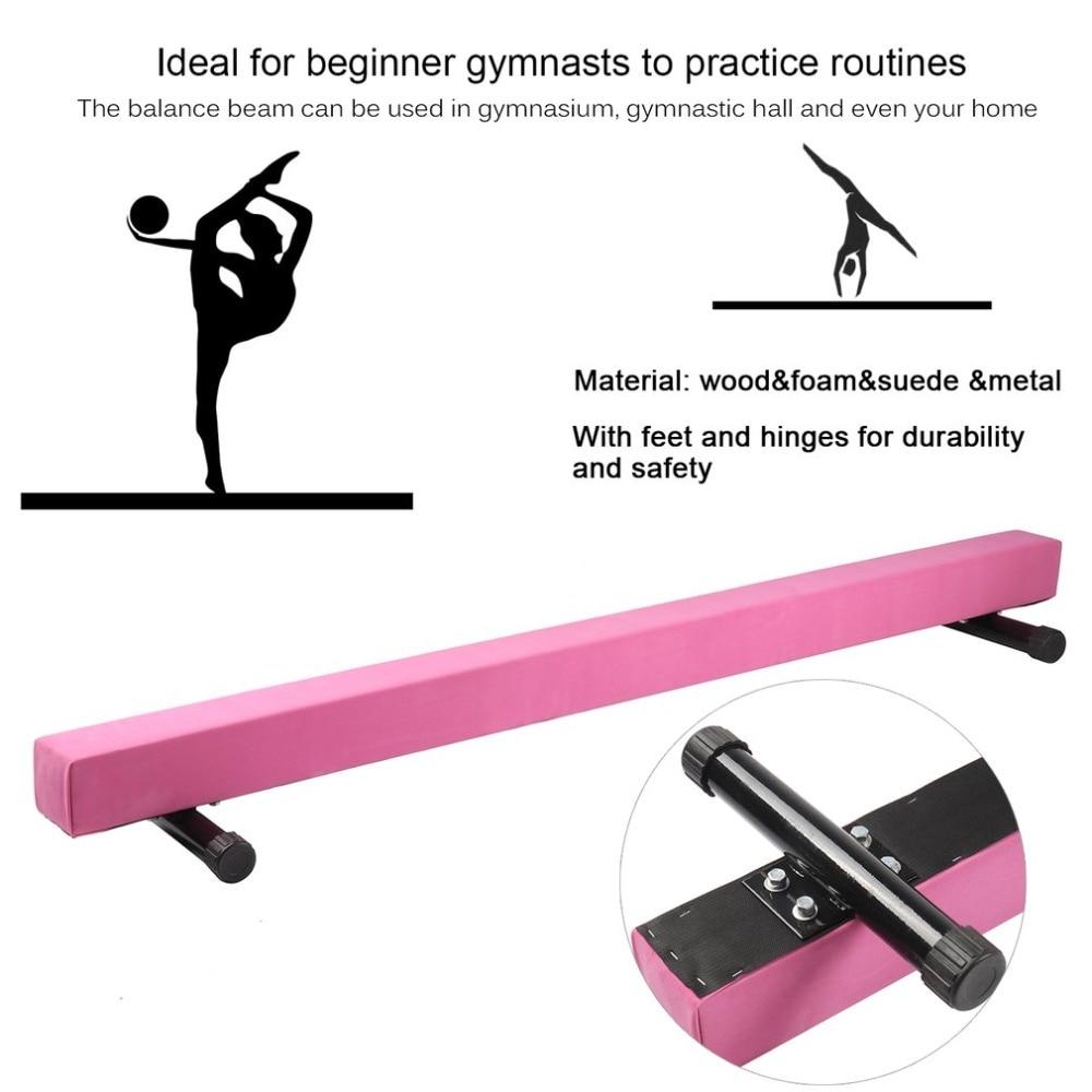 183cm Gymnastics Balance Beam With Round Metal Feet Equipment Universal Exercise Horizontal Bar Balance Training Tool