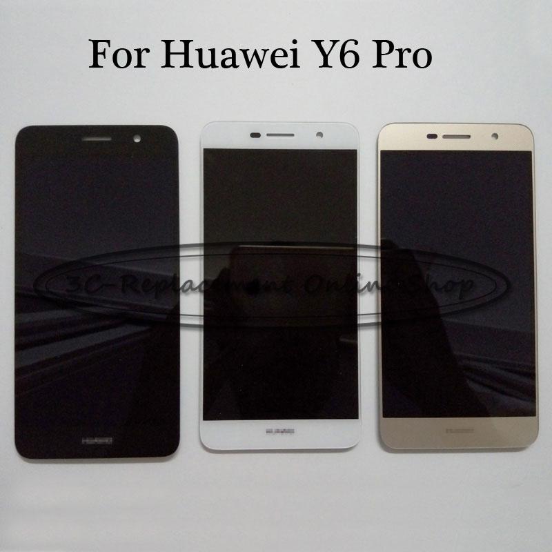 imágenes para Negro/Blanco/Oro 5 pulgadas Para Huawei Y6Pro TIT-U02 Y6 Pro TIT-AL00 Pantalla LCD + Pantalla Táctil Digitalizador Reemplazo del conjunto