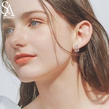 SA SILVERAGE 925 Sterling Silver Dreamcatcher Tassel Drop Earrings Woman 925 Silver AAA Zirconia Long Earrings Fashion Earring цена