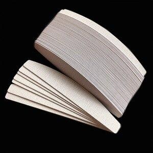 Image 2 - Tampons de remplacement zèbre amovible, 200 pièces, tampons de papier de verre jetables pour salon de coiffure, grain 100/180 /240