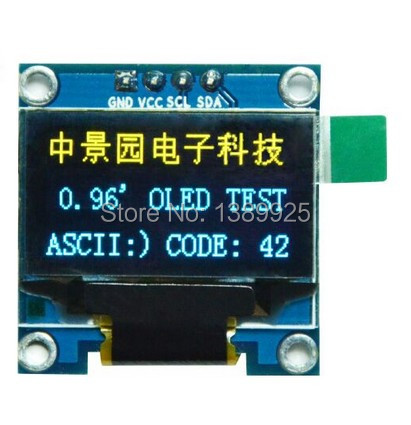 Free Shipping 10PCS/Lot 4pin Yellow, Blue Double Color 128X64 0.96 Inch OLED LCD LED Display Module 0.96