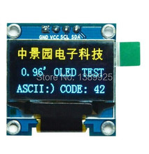 Free Shipping 10PCS/Lot 4pin Yellow, blue double color 128X64 0.96 inch OLED LCD LED Display Module 0.96″ IIC SPI Communicate