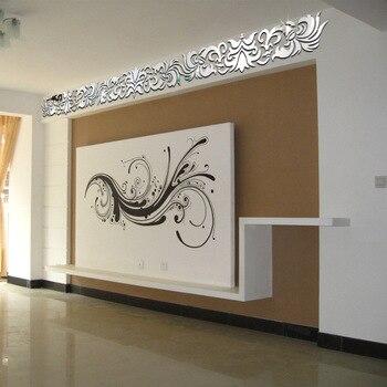 Континентальные настенные наклейки DIY украшения дома потолочные диагональные зеркальные настенные наклейки стены искусства Pegatinas Paredes ...