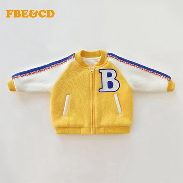20ad1348c276 FBE CDG Fashion Cute Designer Baby Boy Jackets Yellow Letter Print ...