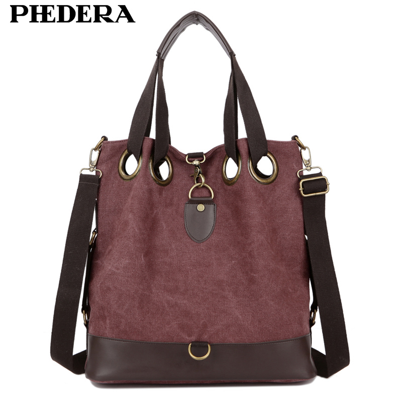 2017 New Big Women Shoulder Bags Fashion Wash Canvas Women Handbag All Match Simple Female Bag MJH1345