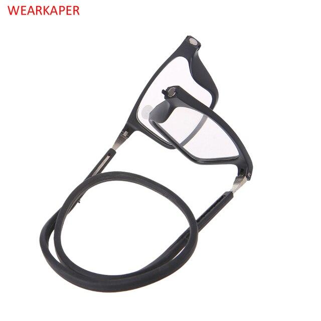 WEARKAPER Upgraded Presbyopia Magnet Presbyopic Reading Glasses Adjustable Hanging Neck Unisex Magnetic +1.00 To +4.00