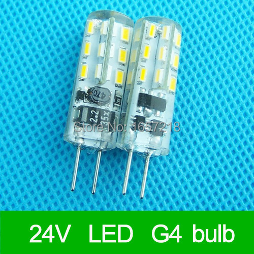 G4 10pcs 3W 6W leds 3014 LED 12V 24V AC DC 24LEDS 3014 SMD COOL White/Warm white Bulb Lamp For home Chandelier jrled g4 3w 290lm 9 x smd 5630 led warm white car reading lamp 12v