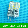 G4 10pcs 3W 6W leds 3014 LED 12V 24V AC DC 24LEDS  3014 SMD COOL White/Warm white Bulb Lamp  For home Chandelier
