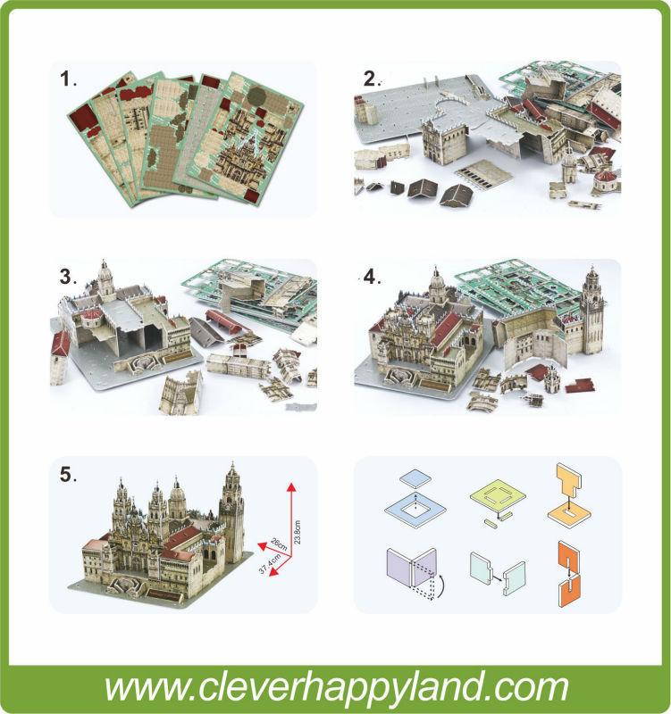 Nyaste! Pappers kartong 3D-pusselmodell världsberömd - Spel och pussel - Foto 4
