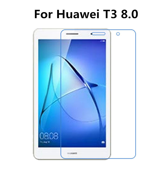 9H Tempered Glass Screen Protector Film For Huawei Mediapad T3 8.0 8 Inch Tablet + Alcohol Cloth + Dust Absorber for huawei mediapad t3 8 inch glass for huawei mediapad t3 9 6 inch m3 8 8 4 10inch m5 8 4 10 8inch tablet screen protector