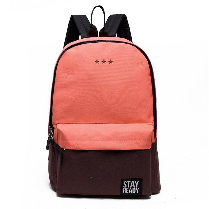 Canvas School Bagpacks for Teenage Girls 2017 Patchwork Back Pack Star Embroidery Design Women Rucksack font