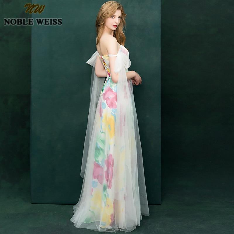 NOBLE WEISS Strapless Long Prom Dresses 2019 Sexy Backless Dress Evening Wear Formal Long Floor Length Vestido De Festa Hot Sale