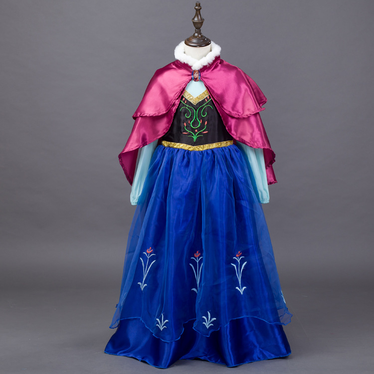 Halloween Costume for Kids Cotton Cute Princess Birthday Party Cosplay Clothes Little Girls Elsa and Anna Dress for Girls newest girls princess tutu dress cosplay elsa dress christmas halloween costume for kids performance birthday dresses vestidos