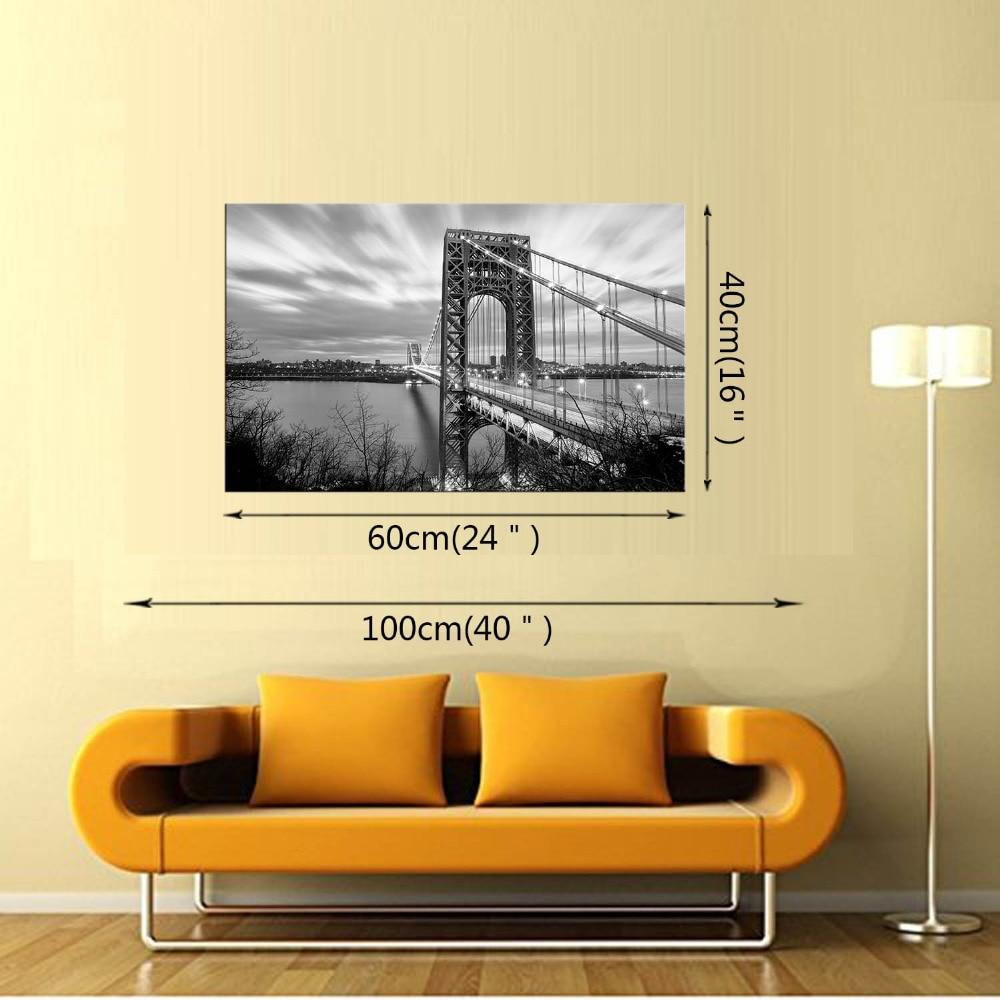 1 Panel Free Shippting Modern wall Painting New York Brooklyn bridge ...