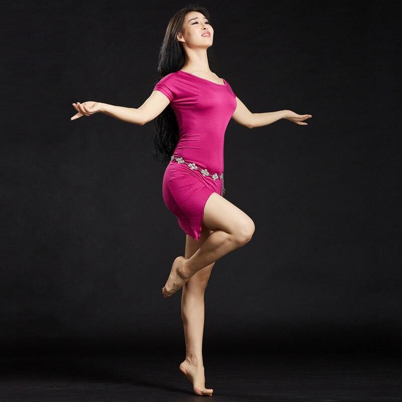 Womens Girls Modal Belly Dance Practice Suit Dress Skirt Training Clothing Performance Yoga Wear ...