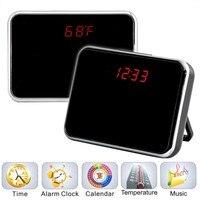 Full HD Alarm Clock Mini Camera Wireless DVR Video Camcorder Recorder Camera Remote Control Quality Record 5MP HD Mini Cam