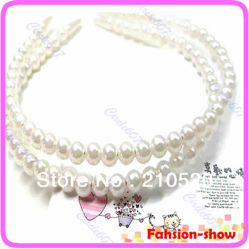 Wholesale&Retail 1PC Lady Full Pearl Bead Fashion Stylish Hair Band Headbands