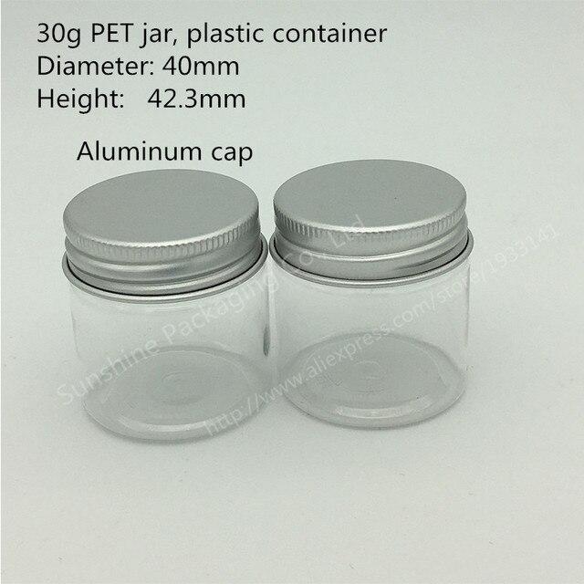 Free Shipping 500x30g Pet Jar 30 Gram Plastic Cream Jar 1 Oz Jar